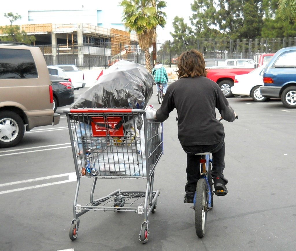 On the way to the recycling center