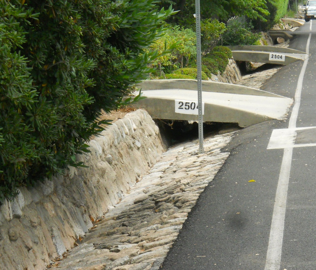 So are the gutters, and they have charming driveway bridges