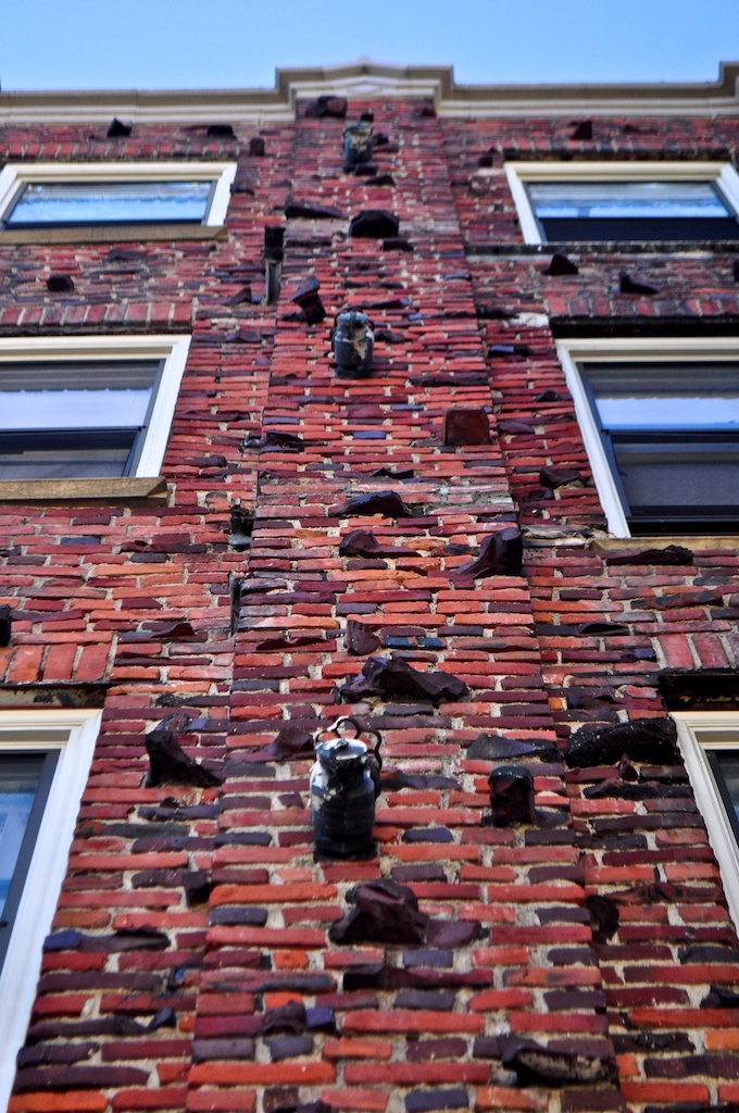 British brickwork with dog tooth protrusion