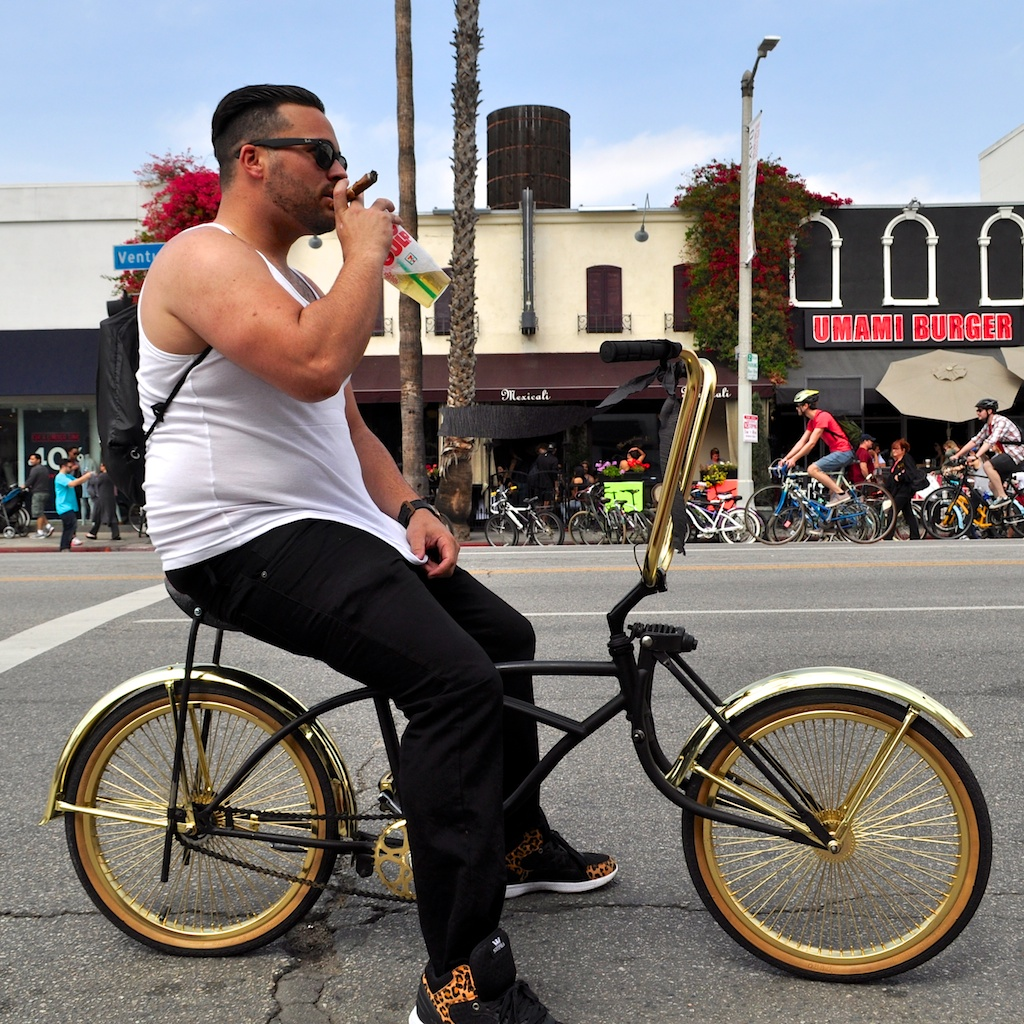 Cigar, Big Gulp and gold rims.  Enough said.