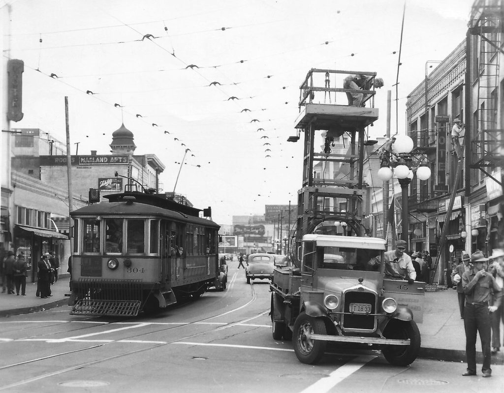 Pacific Electric Trolley, 1947