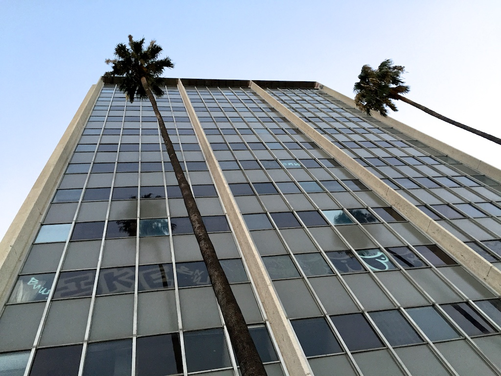 Panorama Towers today. Fifteen years empty...
