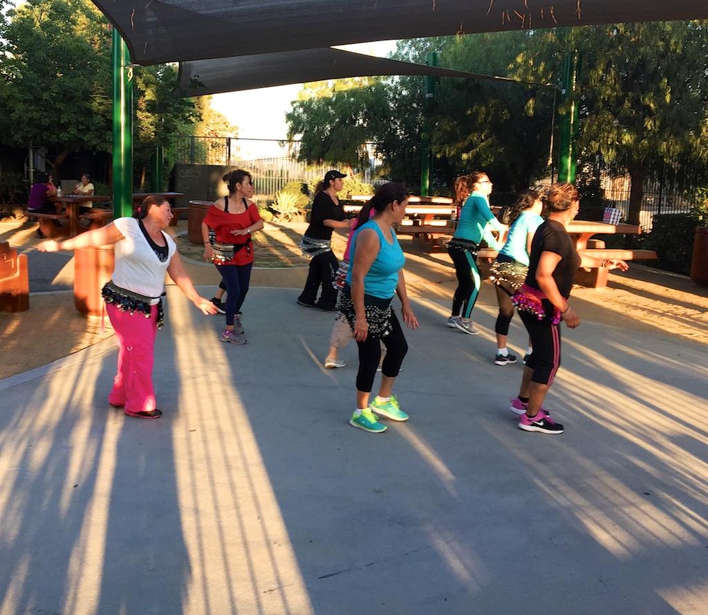 Dancing after work, Marson Park