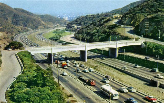 Cahuenga Pass, 1955, no rails